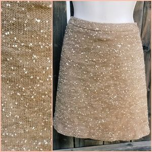 Golden Tan Mini Tweed Skirt